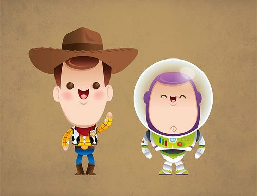 Disney and Pixar characters by Jerrod Maruyama----OHMYFREAKING GOODNESS THIS IS THE CUTEST THING I HAVE EVER SEEN