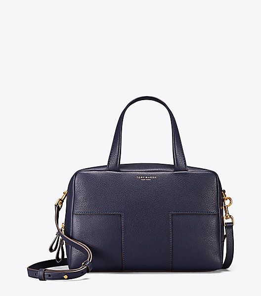 Tory Burch - BLOCK-T PEBBLED ZIP SATCHEL - USD498 Jan 2018