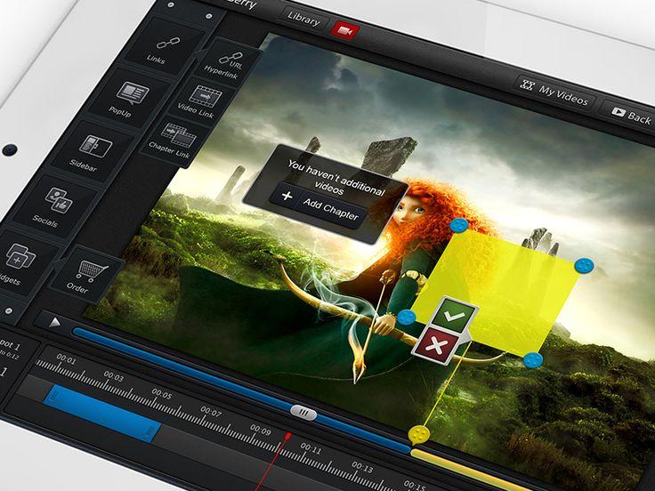 iPad Сlickberry Interactivity Creator.