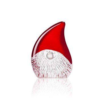 En rolig tomte i kristall, design Mats Jonasson.