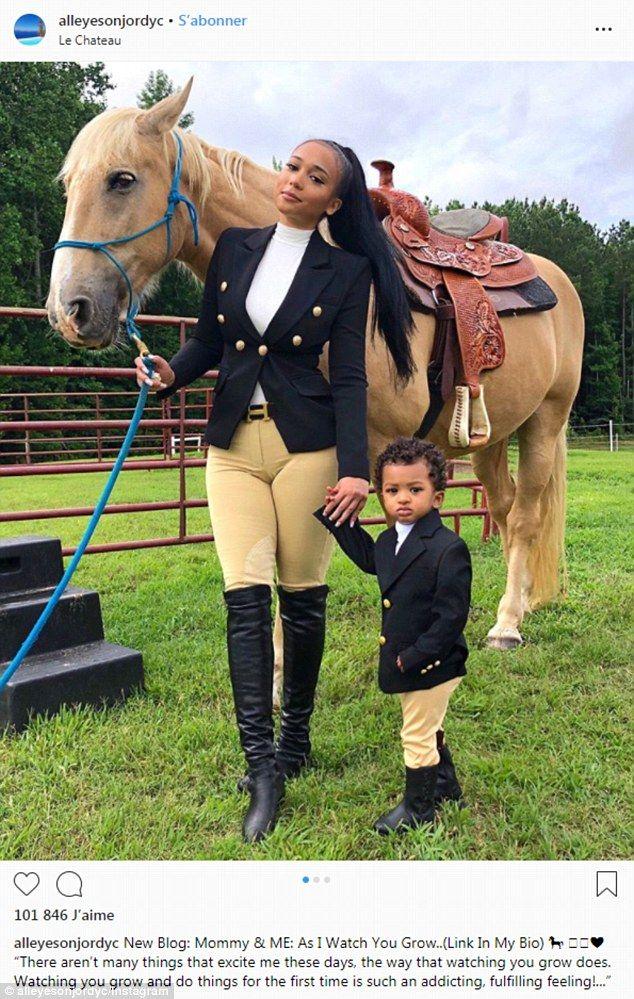 Tristan Thompson's ex Jordan Craig on equestrian trip with son