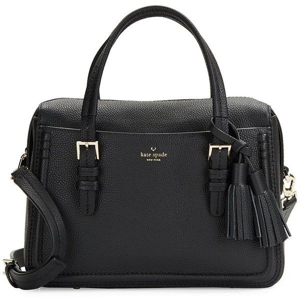 Kate Spade New York Pebbled Leather Briefcase ($398) ❤ liked on Polyvore featuring bags, briefcases, handbags, purses, black and sac