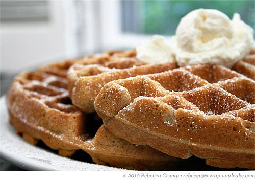 Holy yumness. Chai waffles with Vanilla whipped cream. Be still my growing thighs...