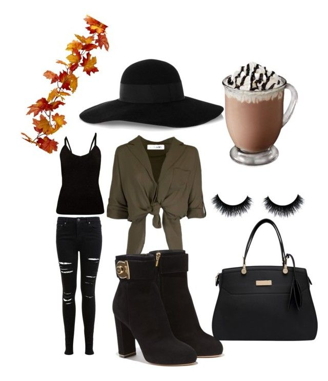 """fall inspired"" by fatmacelen on Polyvore featuring Miss Selfridge, Salvatore Ferragamo and Eugenia Kim"