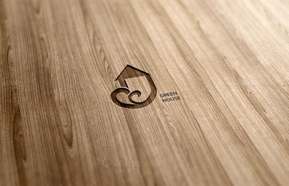 Green House Logo Design by Florin Chitic on Creative Market