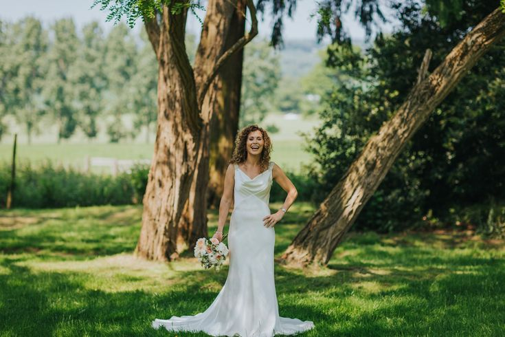 When a dress suits a bride literally down to the ground. Photo by Benjamin Stuart Photography #weddingphotography #weddingdress #bride #weddingday #whitewedding #summerwedding