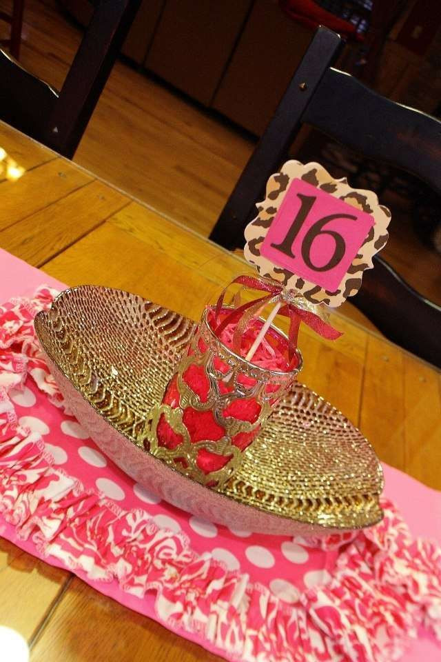 Leopard and Hot Pink Sweet 16  Birthday Party Ideas | Photo 1 of 20