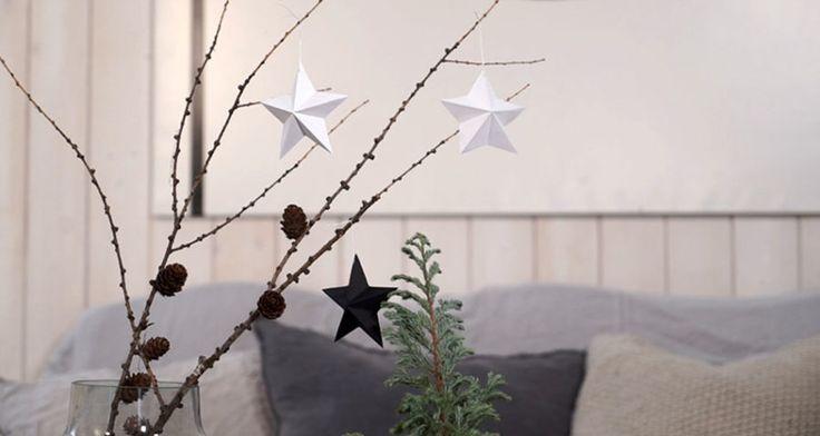 Så gör du stilrena juldekorationer –av vanligt papper