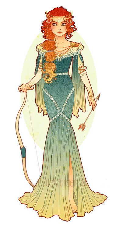 Art Nouveau Costume Designs VII: Merida by Hannah Alexander  #disneyprincess #disneyprincesspics #disney