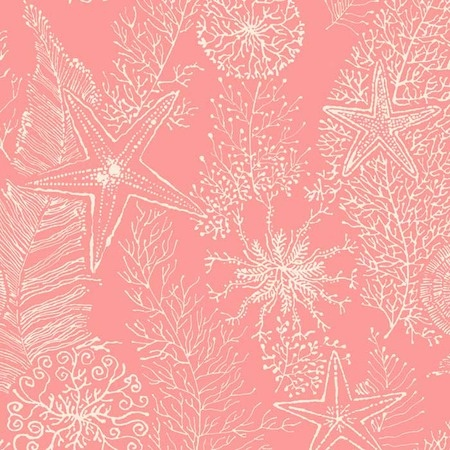 I pinned this Coral Reef Wallpaper in Coral from the Seaside Chic Wallpaper event at Joss and Main