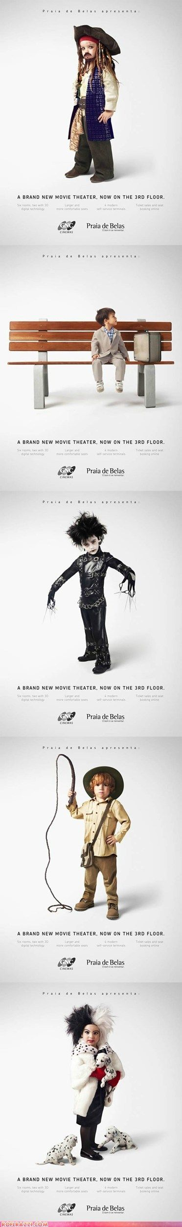 Children as Famous Film Characters - This is too cute!