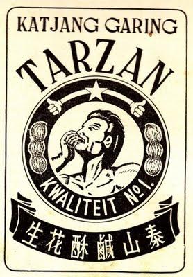 Indonesian Old Commercials:Katjang Garing TARZAN ( crunchy nut )