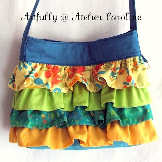Cute ruffled purse.