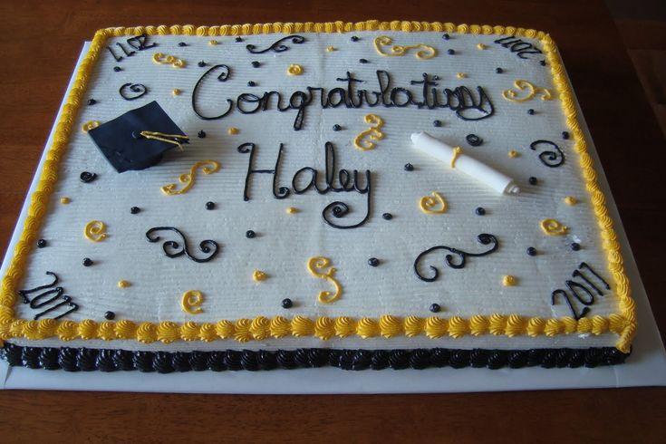 Divided graduation sheet cake - This is one of three half sheets cakes decorated the same for a large high school graduation party. Description from pinterest.com. I searched for this on bing.com/images