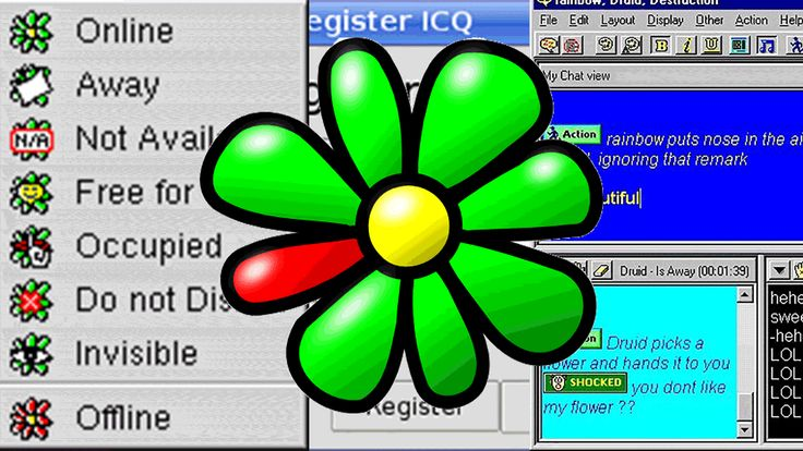 ICQ chat interface, circa 2000; I spent many hours on this thing.