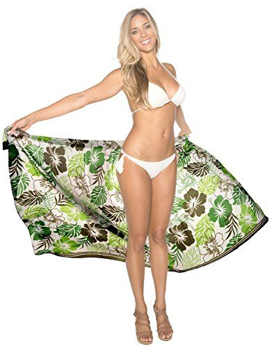 """La Leela SUPER Lightweight Sheer CHIFFON Sarong Cover up 72X42 INCH Green. Do YOU want SARONG in other colors Like Red ; Pink ; Orange ; Violet ; Purple ; Yellow ; Green ; Turquoise ; Blue ; Teal ; Black ; Grey ; White ; Maroon ; Brown ; Mustard ; Navy ,Please click on BRAND NAME LA LEELA above TITLE OR Search for �LA LEELA� in Search Bar of Amazon. LENGTH 72"""" [183 cms] WIDTH 42"""" [107 cms]. Soft Sarong with PLENTY OF Wrap Around MATERIAL (Provides you good coverage or less as you like)…"""