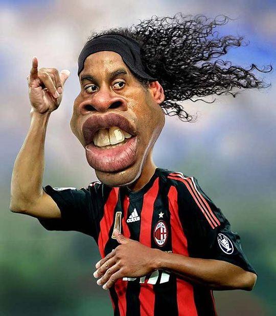 Caricature Ronaldinho #caricature #art #Caricature #cool