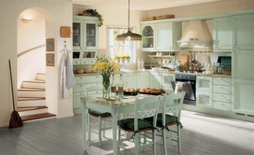 Kitchen Pictures in Modern and Integrated with Dining Room