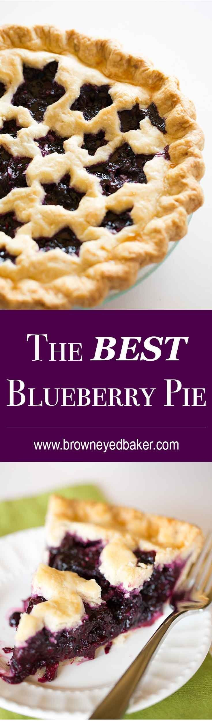 The BEST Blueberry Pie @FoodBlogs