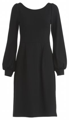 Fitted and feminine winter jersey dress with long sleeves