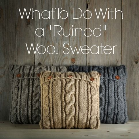 3 DIY projects for wool sweaters that shrunk in the wash.