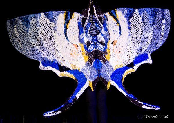 "Galleria fotografica :: Associazione Ricamarte ""Pina Alberti"" Farfalla macrame"