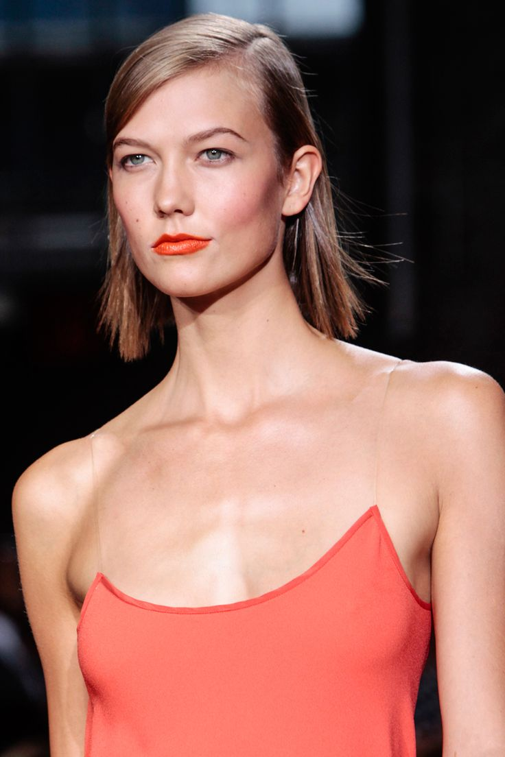 Orange Lips - Karlie Kloss at DKNY SS14
