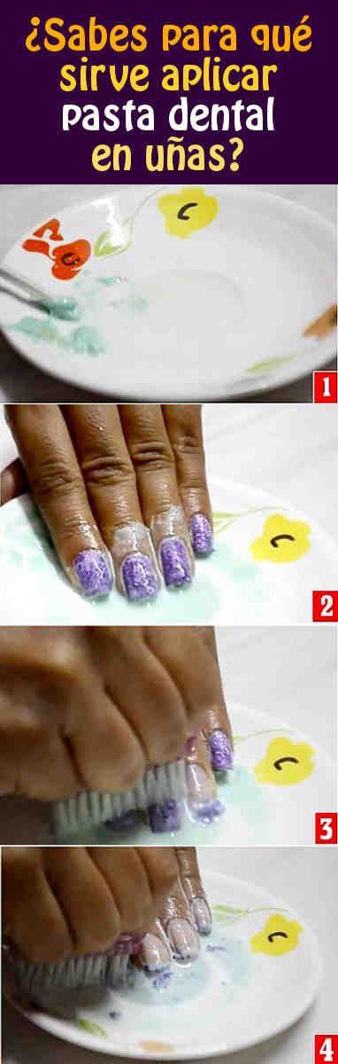 ¿Sabes para qué sirve aplicar pasta dental en uñas? ¡Aperndelo te encantará!