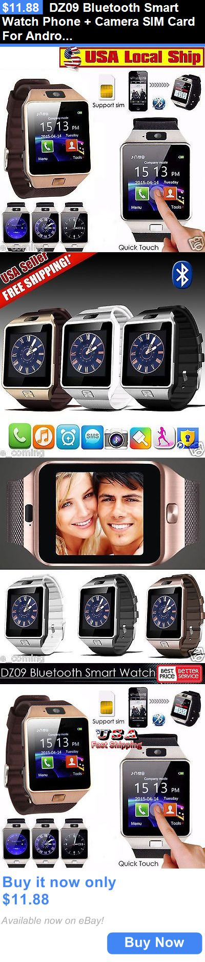 Smart Watches: Dz09 Bluetooth Smart Watch Phone + Camera Sim Card For Android Ios Phones BUY IT NOW ONLY: $11.88