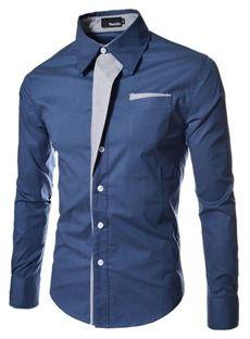 意匠独特なデザイン メンズファッション長袖シャツ