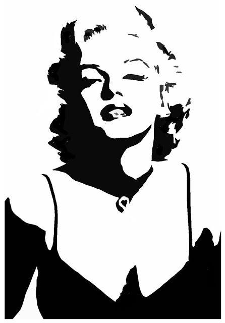 Amazing Stencils : Marilyn Monroe Stencil                              …