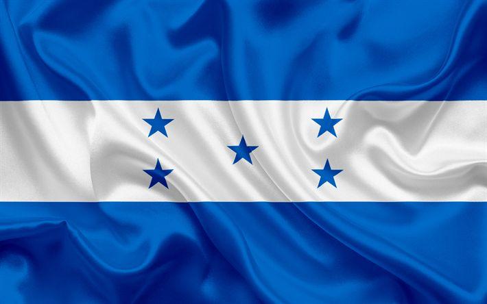 Download imagens Bandeira de honduras, Honduras, América Central, bandeira de Honduras, bandeira nacional