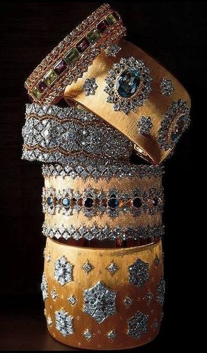Christian DIor   Gold Cuffs. We love Dior at www.rubylane.com