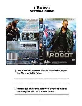 This printable iRobot viewing guide is predominately comprehension based and is intended to support a broader unit based on a thematic study-science fiction.Worksheet mainly involves questions regarding narrative and visuals. It is intended that the worksheet/guide be completed by students while viewing the film.
