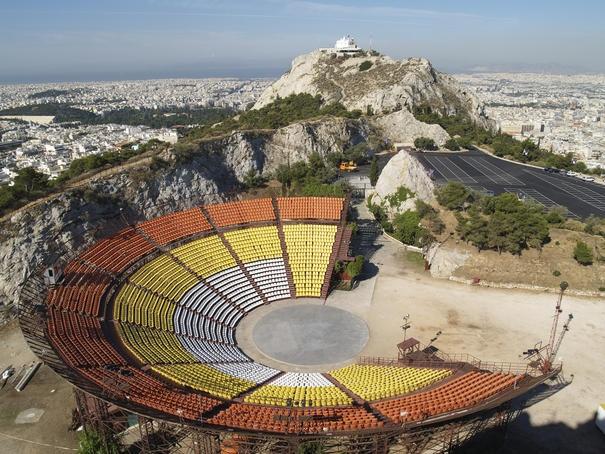 The open-air theatre of Lykavittos hill.