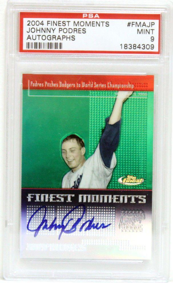 Johnny Podres PSA Autographed 2004 Finest Moments Trading Card Auto #18384309 #johnnypodres #podres #autograph #signedcard #2004