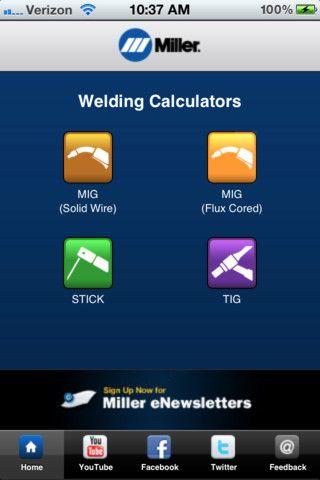 Miller Weld Setting App