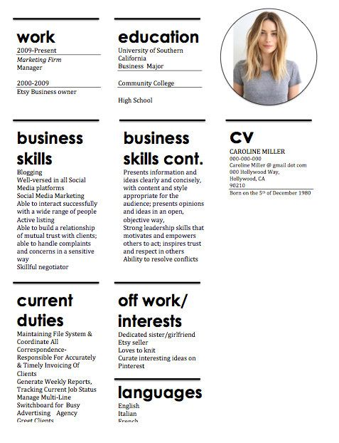 51 best Illustration + Graphic Inspiration images on Pinterest - resume format types