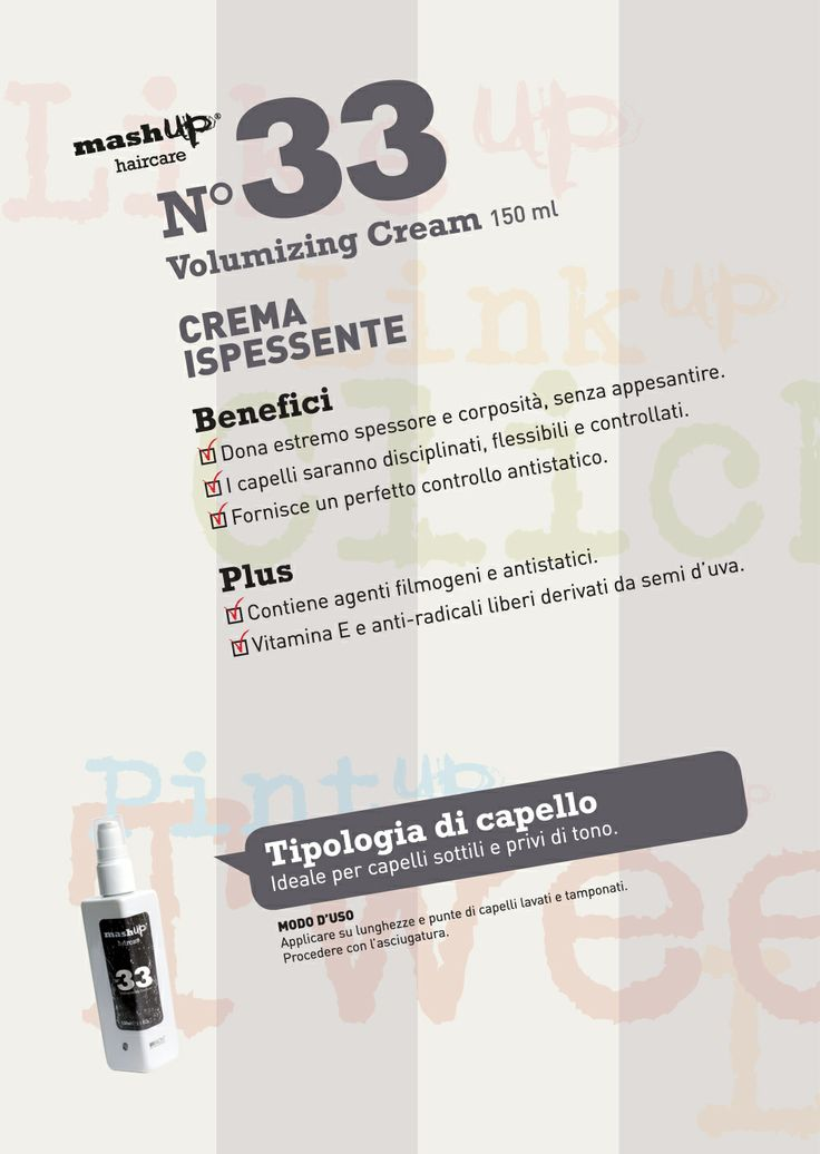 Mashup Haircare N°33 Volumizing Cream.Ideale per capelli sottili e privi di tono.