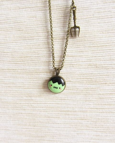 Polymer Clay Necklace - Victor Frankenstein  from HappyBee Lab by DaWanda.com
