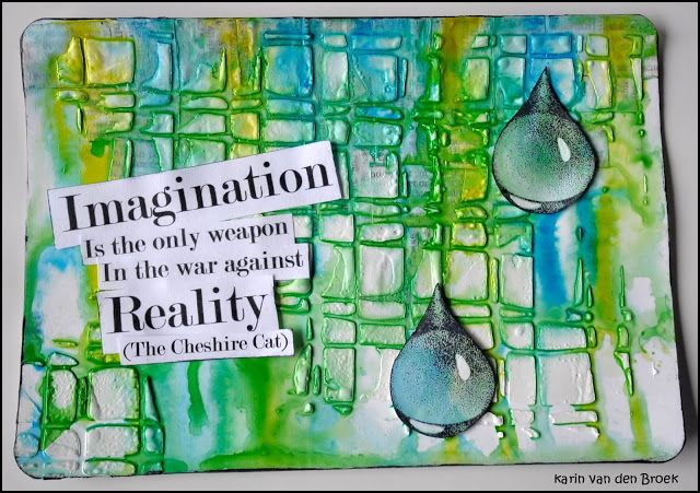 Creativity: Imagination... using Designs by Ryn stamps on a journal page; June 2015