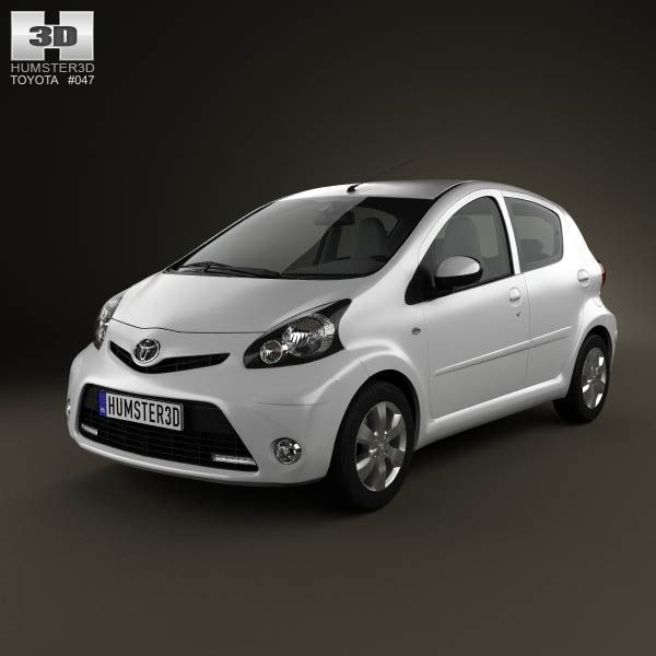 Toyota Aygo 5-door 2013 5d model from humster3d.com. Price: $75