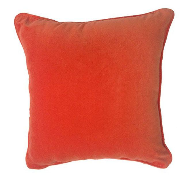 Lilly and Lolly Velour 40x40cm Filled Cushion Orange