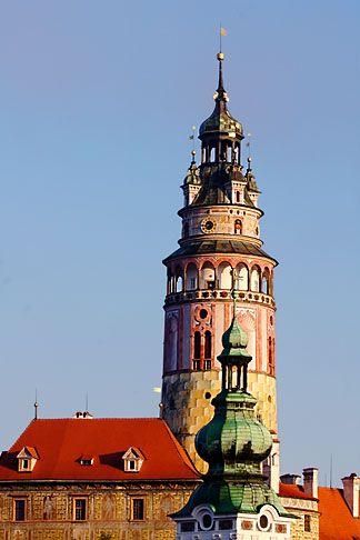 Czech Republic, Cesky Krumlov, Castle Round Tower