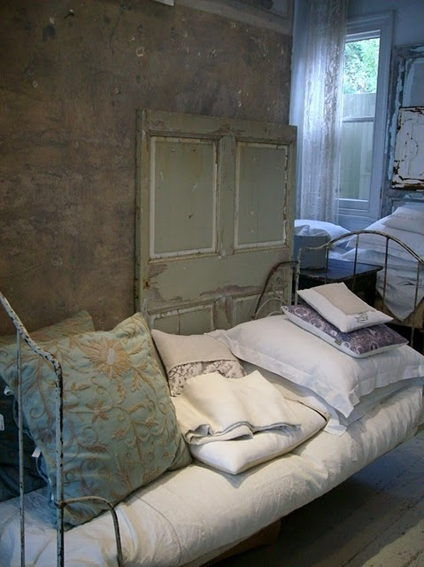 old French wire bed: Fishermans Cottages, Cottages Hello, French Shops, Vintage French, French Decor, French Wire, Stores Interiors, Shops Spree, Shops Spaces