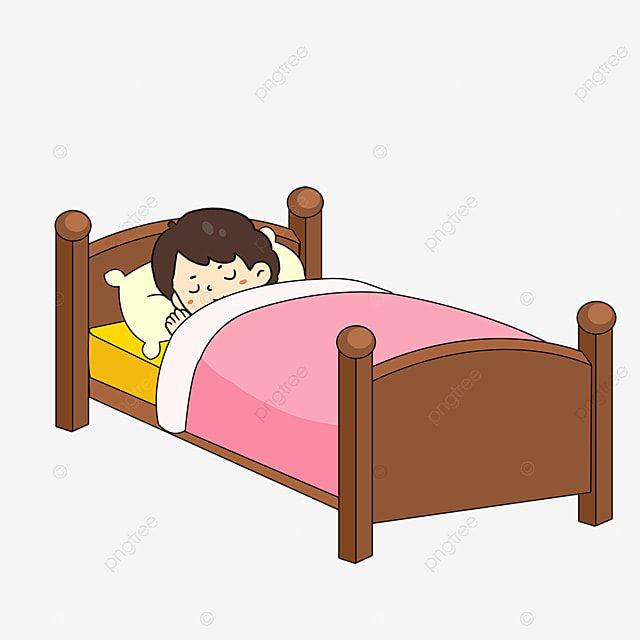 طفل نائم Clipart سرير الذهاب إلى الفراش قصاصة فنية Png وملف Psd للتحميل مجانا Kids Sleep Toddler Bed Decor