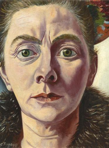 Charley Toorop - Self-portrait with fur collar, 1940, collection Scheringa Museum voor Realism, Spanbroek