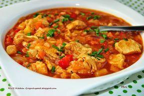 Zupa drobiowa z papryką i ryżem jaśminowym