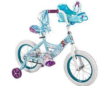 "Girls' 14"" Huffy Frozen Bike with sleigh"