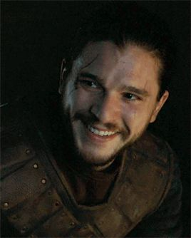 Pin for Later: A Celebration of Jon Snow and His Sexy Man Bun on Game of Thrones And when Jon Snow laughs . . .